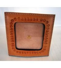 Porta Foto artigianale in cuoio