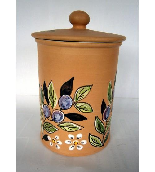 Barattolo in Terracotta Decorata