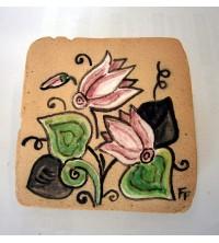 Piastrella rustica con ciclamino