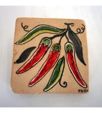 Piastrella rsottile con peperoncino