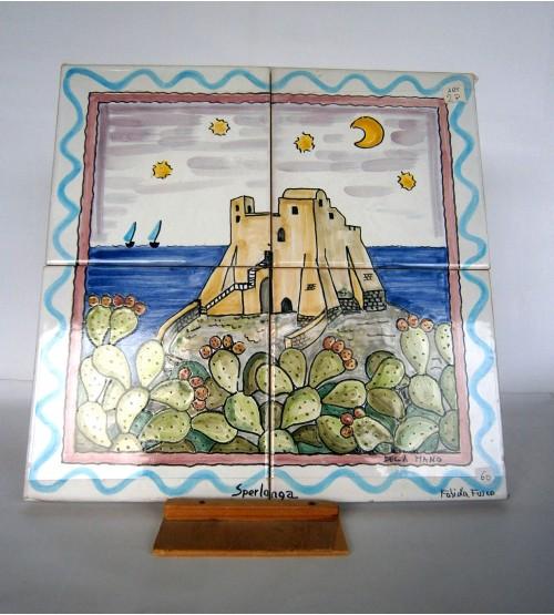 "Pannello in ceramica ""Sperlonga"""