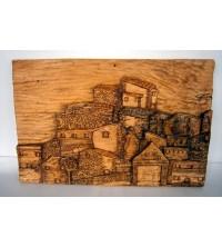 """""""Paesaggio"""" su legno"""