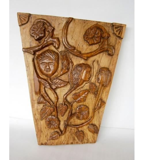 """Lavorazione su legno """"Fiori del Male"""""""
