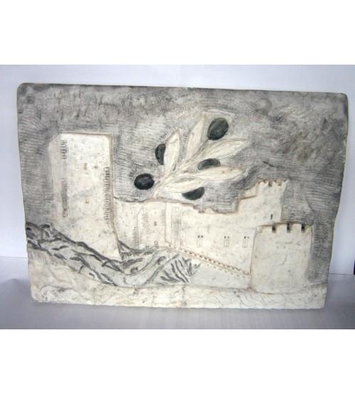 """Lavorazione su marmo """"Castello di Itri"""""""